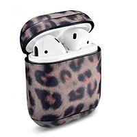 Leopard Pattern Leather Airpods Case - Hàng chính hãng