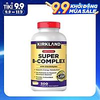 Viên Uống Bổ Sung Vitamin B Kirkland Super B-Complex chai 500 viên Làm Tăng Khả Năng Hấp Thụ, Chuyển Hóa Năng Lượng, Tăng Cường Hệ Miễn Dịch, Giảm Căng Thẳng, Phù Hợp Với Người Làm Việc Nhiều, Suy Nhược, Gầy Yếu, Thường Xuyên Cảm Cúm