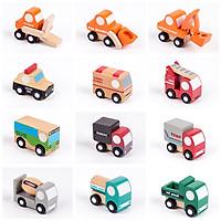 Bộ đồ chơi gỗ 12 mô hình xe phương tiện giao thông