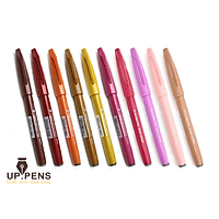 UP.PENS COLLECTION - Warm Colors - Combo 10 bút lông đầu cọ viết calligraphy Pentel Fude Touch Brush Sign Pen