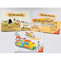 Ehon Nhật Bản Bút sáp màu đen cho bé 3-6 tuổi