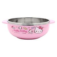 Bát Đựng Soup Cho Bé Bằng Thép Không Gỉ Có Tay Cầm Hello Kitty LKT424 (15.5 x 12 x 5 cm) - Hồng