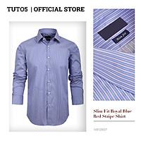 Áo sơ mi Slim Fit Shirt Blamor form ôm chất liệu lụa cao cấp hàng vnxk_ASM055