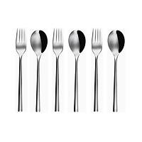 Bộ 6c Muỗng & Nĩa ăn Inox 304 (Set of 6pcs Table Spoon & Fork SS18/10) 107000.001