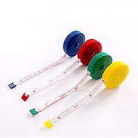 Thước dây kéo mini 150cm có nút bấm kéo lại (1 cái màu ngẫu nhiên)