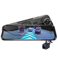 Camera hành trình gương cao cấp Phisung H58 tích hợp 4G, Wifi, GPS, màn hình 10 inch