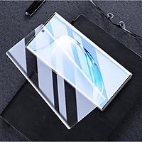 Miếng dán màn hình silicon Full 3D cho Samsung Galaxy Note 10 Plus hiệu Rock Hydrogel (Mỏng 0.18mm, độ trong HD, cảm ứng vân tay cực nhạy, chống va đập và bảo vệ màn hình) - Hàng nhập khẩu