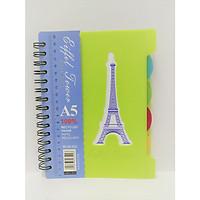 Sổ Lò Xo Phân Trang Eiffel Tower A5 (Màu Ngẫu Nhiên)