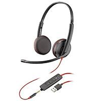 Tai nghe Plantronics C3215-USB-A chuẩn hai bên tai hành chính hãng