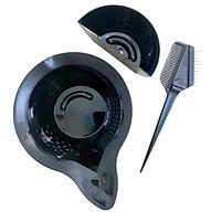 Bộ dụng cụ chén cọ quét thuốc nhuộm tóc (chén nhuộm 2 ngăn) chuyên nghiệp cho Salon