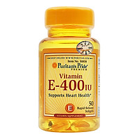 Thực Phẩm Chức Năng - Viên Uống Bổ Sung Vitamin E Giúp Đẹp Da, Chống Lão Hóa, Hỗ Trợ Hệ Tim Mạch Puritan'S Pride Vitamin E-400 Iu (50 Viên)