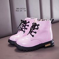 Bốt bé gái giày boot cao cổ cho bé gái 3 - 12 tuổi màu hồng da bóng thời trang sành điệu GC10