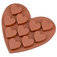 Khuôn silicon hình tim - Vĩ 10 cái