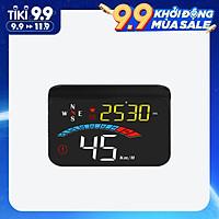 Car HUD Display, GPS Head Up Display Windshield Projector with Speed, Digital Clock, Overspeed Warning, Mileage