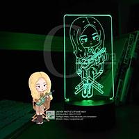 Đèn Ngủ BlackPink Lisa Chibi Type 01 đánh đàn dễ thương trang trí cực đẹp cho phòng ngủ