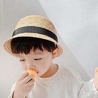Mũ cói vành ngắn cho bé MC666