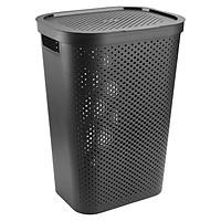 Giỏ Đựng Đồ Giặt JYSK Infinity Nhựa - Đen / Xám (35 x 44 x 60 cm)