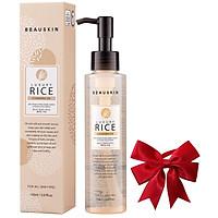 Nước tẩy trang mắt môi từ tinh chất gạo BEAUSKIN LUXURY RICE CLEANSING OIL Hàn quốc 150ml/ Chai Kèm 1 nơ xinh