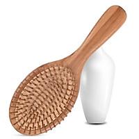 Lược chải tóc tre tự nhiên chống tích điện và massage da đầu XM27