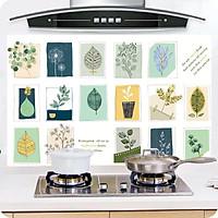 Cuộn 3 Mét Decal Giấy Dán Bếp Tráng Nhôm Cách Nhiệt Khung Hoa Lá (3 Mét Dài x 0.6 Mét Rộng)