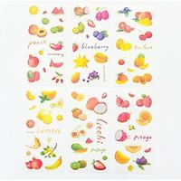 Bộ 6 Tấm Sticker Trang Trí Sổ Kế Hoạch Nhật Ký Cuộc Sống Handmade