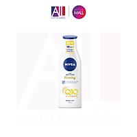 Dưỡng thể trắng da chống lão hoá, da thường Nivea Light Body Lotion Firming Q10 + Vitamin C