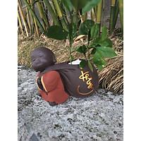 Tượng phong thủy chú tiểu trồng cây chữ Khang