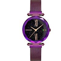 Luxury Starry Sky Watch Rose Gold Women Black Magnet Buckle Fashion Unique Casual Elegant Lady Quartz Wristwatch Gift
