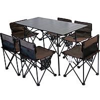 Bộ bàn ghế xếp gọn, 1 bàn và 6 ghế du lịch