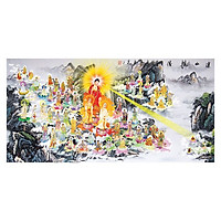 Tranh Phật Giáo Tây Phương Tiếp Dân 2466 (30 x 60 cm)