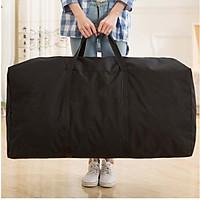 Shouyou large moving bag waterproof Oxford cloth bag packing bag thick luggage bag storage bag JD-SN-21 black 100L