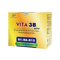 Vitamin b Vita3B - Cung cấp các vitamin thiết yếu cho cơ thể:  B1, B6, B12. Hỗ trợ tăng cường sức khỏe, giảm mệt mỏi. Hộp 100 viên. SP chính hãng, đạt chuẩn GMP - WHO.