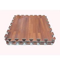 Combo 4 tấm thảm xốp ghép, in hình vân gỗ, kích thước 1 tấm 60cm x 60cm x1cm