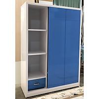 Tủ áo mở lùa 1m2 x 1m8 x 48 cm (xanh)