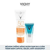 Bộ Kem Chống Nắng (Có Màu) Ngăn Sạm Da Và Giảm Thâm Nám Vichy Capital Soleil Anti-Daskspot