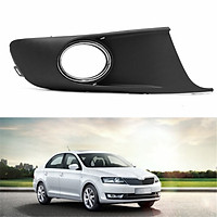 1pcs Front Right Side Bumper Fog Light Grille Cover Black For VW Caddy MkIII Touran New 2010-2014 Fog Light Surround Plastic