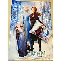 Bộ chăn gối Elsa Frozen mẫu mới cho bé 3-5 tuổi