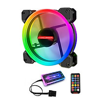 Bộ 1 Fan + Khiển Coolmoon RGB V2 - Hàng nhập khẩu