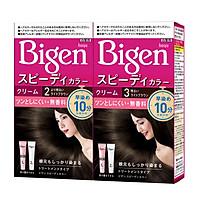[Nhập khẩu Nhật Bản] Combo 2 Thuốc nhuộm tóc phủ bạc dạng kem Bigen Speedy Color Cream (80mlx2)