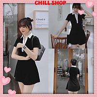 Váy nữ kiểu polo, đầm nữ tay ngắn dễ thương freesize CHILL SHOP