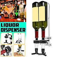Wall Mounted 2 Bottles Drink Liquor Dispenser Bar Beverage (ONLY Liquor Dispenser)