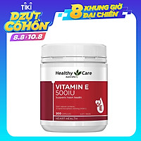 Viên Uống Healthy Care Vitamin E 500IU 200 viên Hỗ trợ bổ sung vitamin E tự nhiên cho cơ thể, chống lão hóa, cải thiện các vết thâm, nám, cho da sáng mịn màng, giúp tóc chắc khỏe