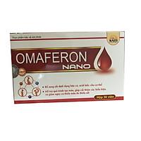Thực phẩm bảo vệ sức khỏe bổ máu, bổ sung sắt cho phụ nữ mang thai, trẻ em thiếu máu, người bị thiếu máu thiếu sắt OMAFERON NANO Hộp 30 viên
