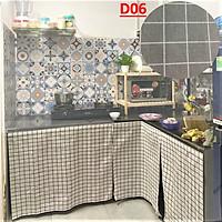 Rèm Dán Bếp, Kệ Bếp, Tủ Bếp gỗ/ đá MARYTEXCO chất liệu vải bố decor , không cần khoan đục, thay thế cửa tủ bếp giúp giữ căn bếp gọn gàng xinh xắn - Giao hàng trong 8h làm việc - Họa tiết Caro