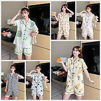 Đồ Bộ Pijama Cộc Mặc Nhà, Bộ Ngủ Cộc Nhiều Màu Xinh Xắn Nhẹ Nhàng CCCP10