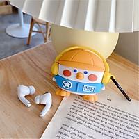 Ốp - Bao dành cho airpods 1/2/3/pro hình cánh cụt mũ cam siêu cute