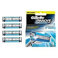 Lưỡi Dao Gillette Mach3 Turbo (4 Lưỡi / Vỉ)