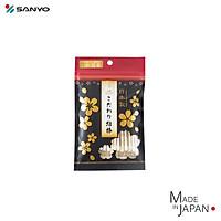 Gói 50 tăm bông cao cấp Nhật Bản Sanyo 100% bông gòn tự nhiên kháng khuẩn - Hàng nội địa Nhật Bản