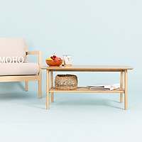 Bàn Sofa - Cafe - Trà Gỗ Cao Su MOHO OSLO 601 Màu Gỗ Tự Nhiên Hình Chữ Nhật