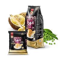 550g Bánh pía T1 đậu xanh SẦU RIÊNG thượng hạng MỸ NGỌC 8 trứng muối